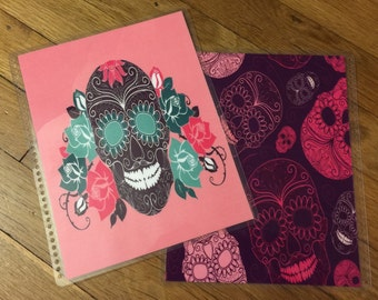 Front and Back Cover Set Sugar Skulls for use with Erin Condren or Happy Planner