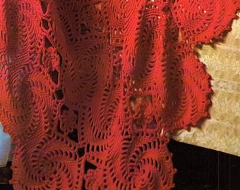 Bulky Afghan, Crochet Pattern. PDF Instant Download.