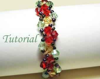Beading Tutorial - Beaded Rose Garden Bracelet