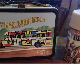 Vintage Lunchbox & Thermos Set: 1971 The Partridge Family