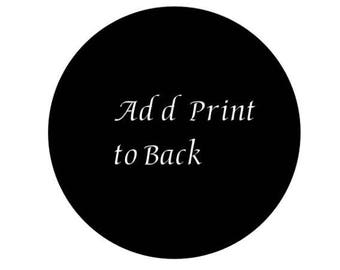 Add Print to Back of Shirt - Add-On Only (Must purchase a shirt and add this on)
