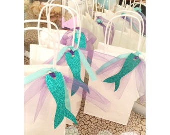 Mermaid Favor Bags. Under the Sea Party Bags. Party Bags. Mermaid. Ariel Favor Bags.