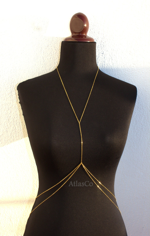 Ibiza Ibiza Gold Body Chain Body Jewelry Beach Jewelry