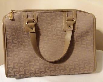 PIERRE CARDIN Vintage LOGO & Leather Hand Bag Purse