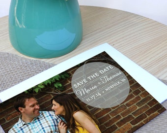 Maria Ombre Polka Dot PHOTO Save the Date - Deposit