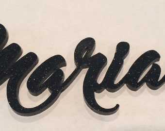 Glitter board name