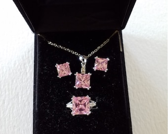 Pink Rhinestone 3 Piece set