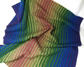 Handwoven Springtime Baby Blanket multicolored