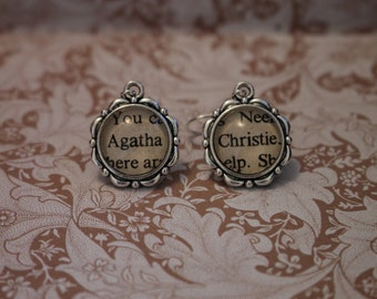 Agatha Christie Earrings ~ Queen Of Crime ~