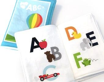 Fabric Book ORGANIC Cotton | Baby Quiet Book | ABC's Book Organic Cotton