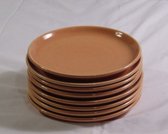 SALE!  Scarce Russel Wright Steubenville American Modern CANTALOUPE Bread & Butter Plates