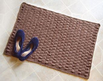 Basketweave Rug - PDF Crochet Pattern - Instant Download