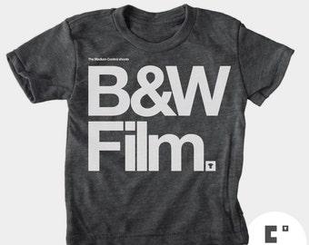 Black & White Film - Boys and Girls Unisex TShirt