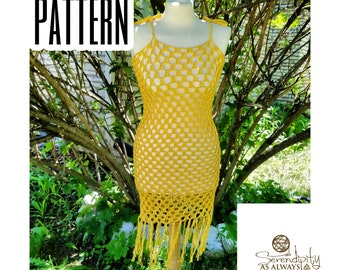 Summer Swimsuit Cover Up Dress Crochet PATTERN | Women's Summer Dress Crochet Pattern | PDF | Digital Download | Charisma Coverup Pattern