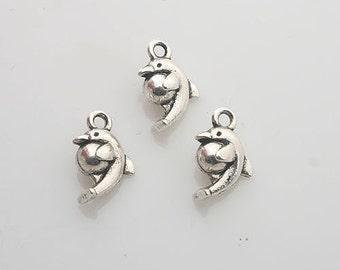 30pcs Tibetan Silver dolphin charm pendants X0059