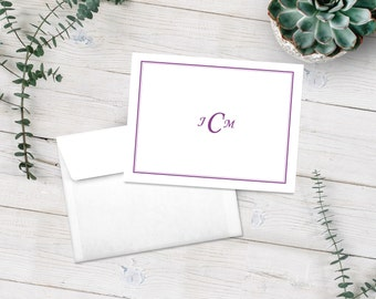 Personalized Note Cards, Stationery Set, Monogram Notecards, Monogram Stationery, Wedding Gift, Bridal Shower Gift , Custom Notecards