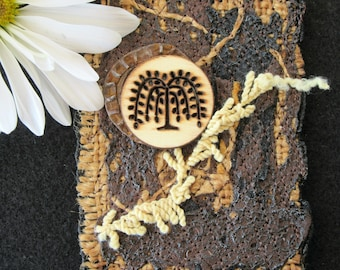 Tree of Life Mini Art Card, Rustic Artist Trading Card, ACEO, Original Design, Handmade Trading Card, Gifts for Friends