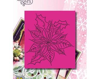 Grid Nellie large flower Christmas 11 x 9 cm_LD013