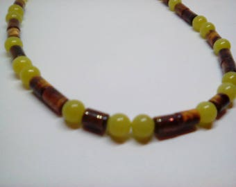 Tiger eye and lemon jasper
