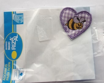 PATCH fusible APPLIQUE heart bee - ref.  87
