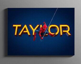 Spiderman Personalized Name / Spiderman Printable Art / Superhero Baby / Boys Room Decor / Superhero / Spiderman Wall Art / DIGITAL DOWNLOAD