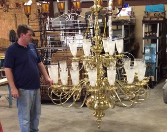 1949 Custom Built Georgian Style Chandelier.
