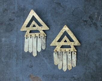 LUMINA statement pyramid earrings