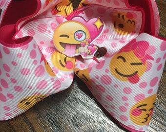 Pink emoji Big Bow