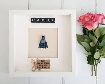 Daddy Frame/Fathers Day Frame / Daddy Superhero Gift/New Daddy Gift/Dad Superhero Frame/Dad Gift/Gifts for Dad/ First Fathers Day Frame