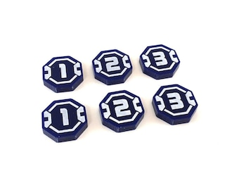 SW-Legion kompatibel, Acryl-Einheit ID token-Set (blau 1-3)