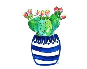 Watercolor Cactus Art Print-Wall Art-Succulents-Cactus Print-Botanical Wall Decor-Watercolor Painting-Print-Illustration Print
