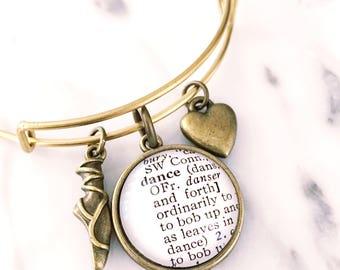 Dance Charm Bracelet - Dance Bracelet - Dancer Bracelet - Ballerina Bracelet - Ballet Bracelet - Ballet Jewelry - Ballerina Jewelry