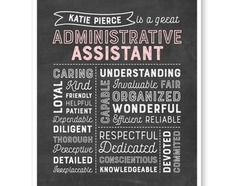 Administrative Assistant Gift, Administrative Professional's Day, Admin Gift, Secretary Chalkboard, Secretary Christmas Gift, Secretary Gift