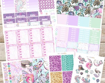 FANTASEA// Planner STICKERS Individual Sheets sized for the Erin Condren Life Planner