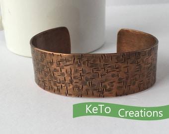 Hand-Forged Hand-Hammered Copper Bracelet, Coppper Bracelets For Men And Women