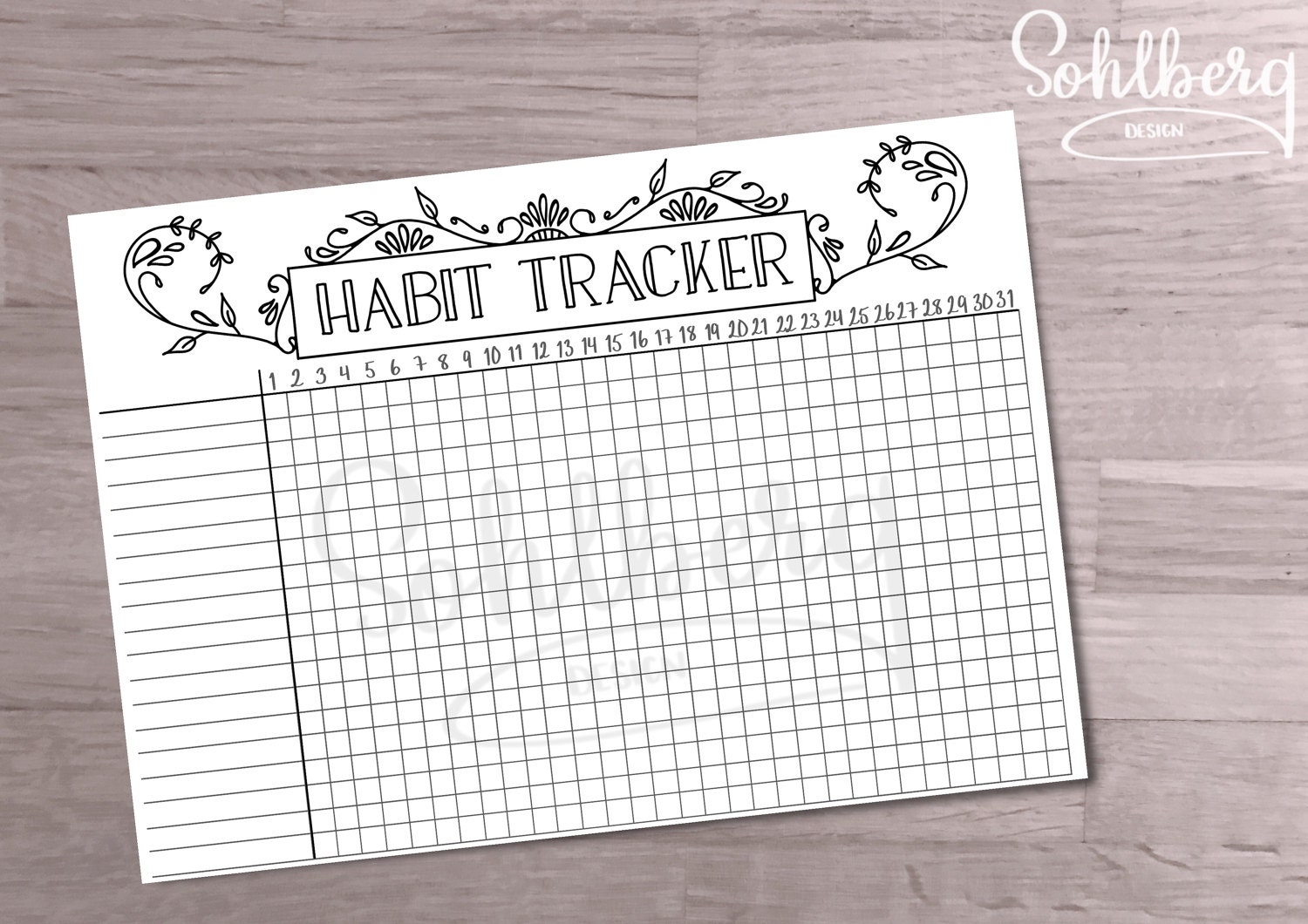 bullet journal habit tracker. Black Bedroom Furniture Sets. Home Design Ideas