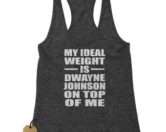 Dwayne Johnson On Top Of Me Racerback Tank Top for Women