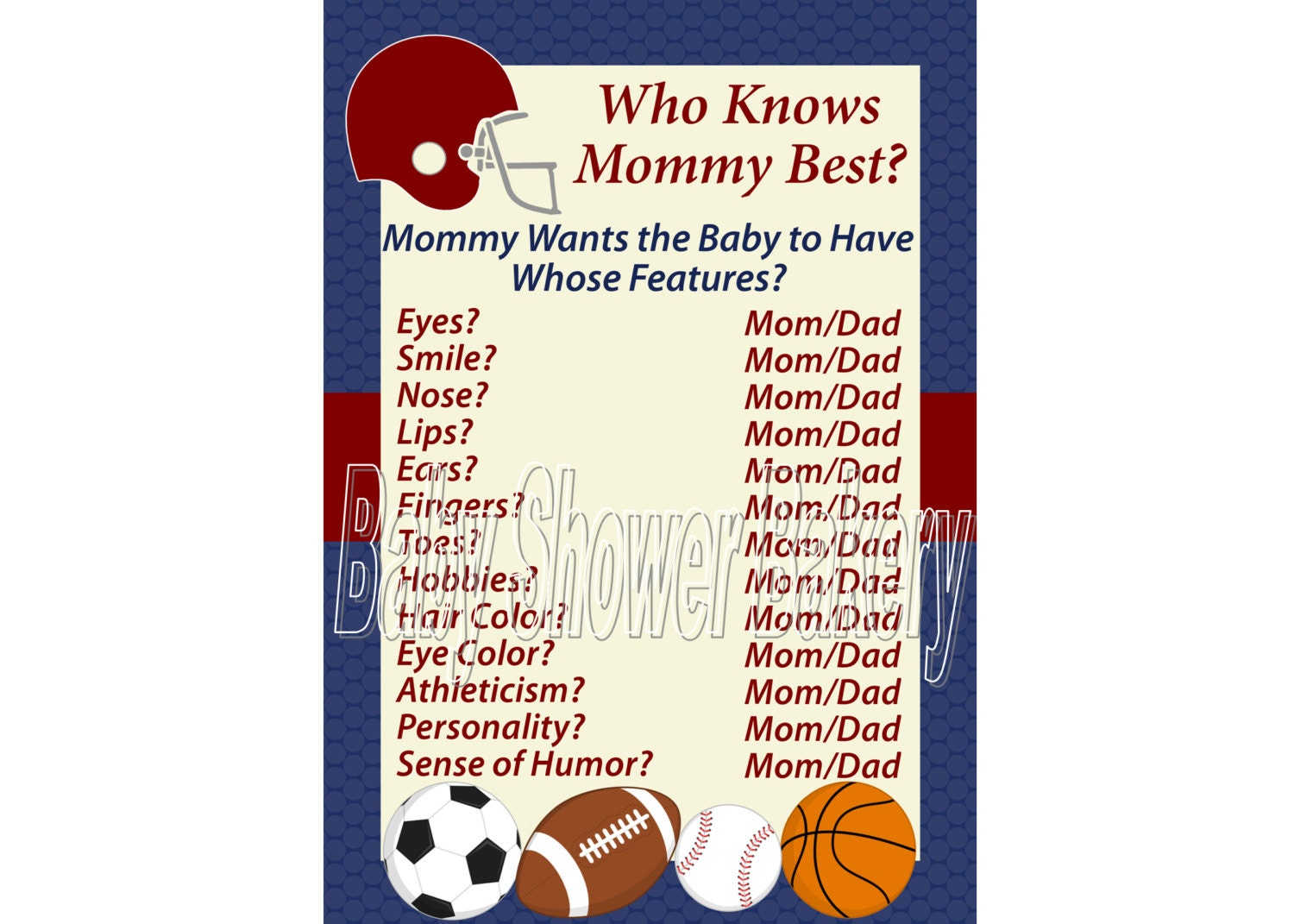 Sports theme baby shower game football theme baby shower zoom filmwisefo Images