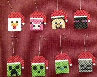 Minecraft Christmas ornaments or keychains - Set of 8