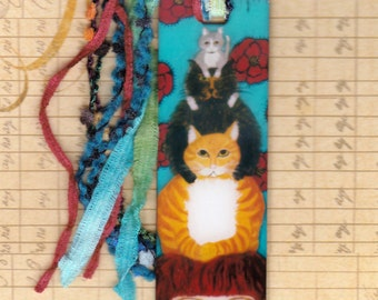 Chrome Bookmark with Here Kitty Kitty Kitty Image