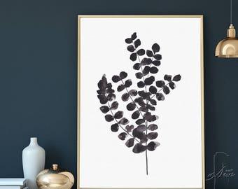 Eucalyptus Print, Abstract Art, Botanical print, Botanical Wall Art, Eucalyptus, Minimalist Art, Watercolor Art, Artwork, Botanical Print