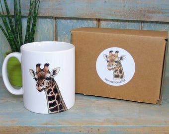 Rothschild's Giraffe Illustration Mug