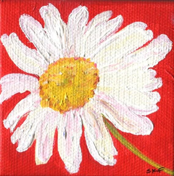 Shasta Daisies Painting original acrylic painting canvas art