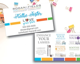 Rodan And Fields Business Cards Etsy - Rodan and fields business card template