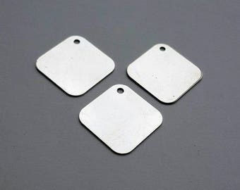 3 Silver Stamping Blanks - 1 Inch - Metal Stamping Hand Stamping Jewelry Metal Work Hand Stamped Charms Pendants - Bella Mia Beads