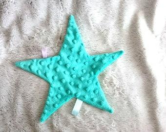cuddly soft grey green star