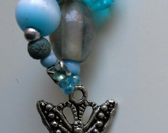 Turquoise jewel drop pendant