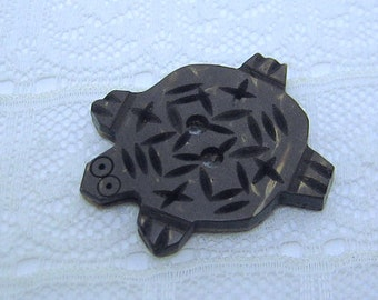 Coconut Shell Turtle Button Medium Size