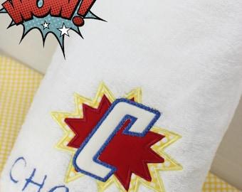 Superhero Towel, Boys Bath Towel, Personalized Beach Towel, Kids Pool Towel, Personalized Kids Towel, Boys Beach Towel, Kids Bath Towel