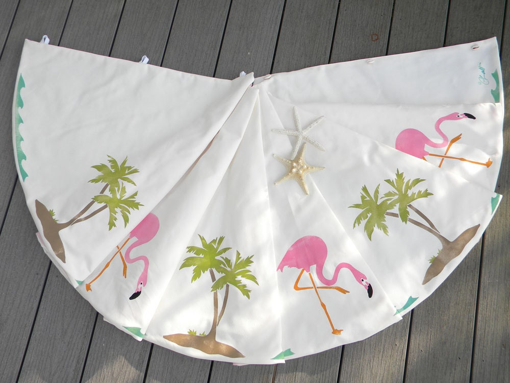EXTREMELY LIMITED EDITION Flamingo Christmas Tree Skirt